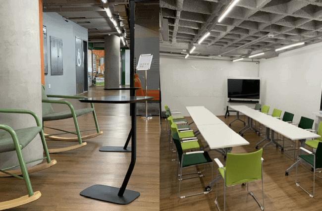 No espaço alugado, planejar o ambiente como os do coworking Mango Tree pode não ser uma opção.