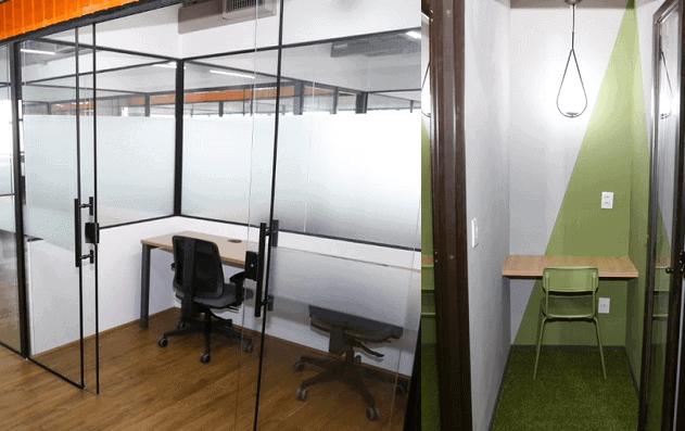 No coworking, você paga pelo espaço de trabalho que vai usar e desfruta de todo o resto.